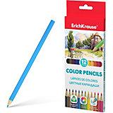 Цветные карандаши трехгранные Erich Krause, 12 цветов