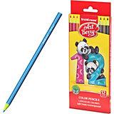 Пластиковые цветные карандаши шестигранные Erich Krause Art Berry, 12 цветов