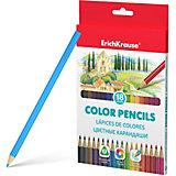 Цветные карандаши трехгранные Erich Krause, 18 цветов