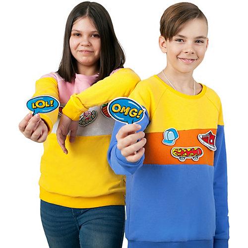 Свитшот Coockoo со стикерами Кукустикер - желтый от Coockoo
