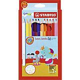 Набор цветных карандашей Stabilo Swans Jumbo, 24 цвета