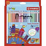 Набор цветных карандашей Stabilo Swans Premium edition, 24 цвета