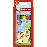 Набор цветных карандашей Stabilo Swans, 12 цветов