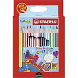 Набор цветных карандашей Stabilo Swans Premium edition, 12 цветов