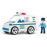 Машинка Efko Полицейский автомобиль с водителем, 17 см