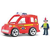 Машинка Efko Пожарный автомобиль с водителем, 17 см