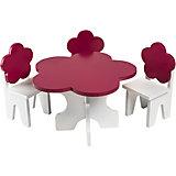 """Набор мебели для кукол Paremo """"Цветок"""" Стол и стулья"""