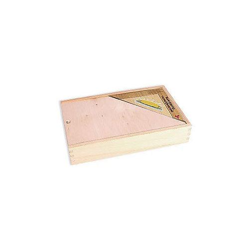 Деревянный конструктор, 85 деталей, неокрашенный, в деревянном ящике от PAREMO