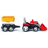 Машинка Efko Трактор с дополнительным прицепом, 22 см