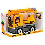 Машинка Efko Строительный грузовик-кран с водителем, 22 см