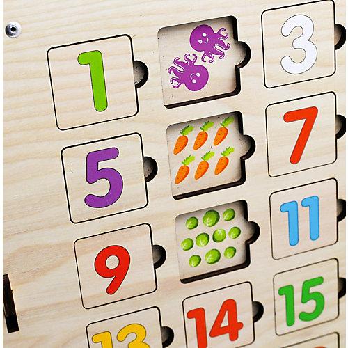 Бизиборд Paremo Учимся читать и считать, 64 элемента от PAREMO