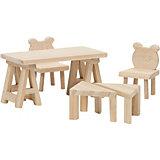 """Набор мебели для домика Lundby """"Сделай сам"""" Стол и стулья"""