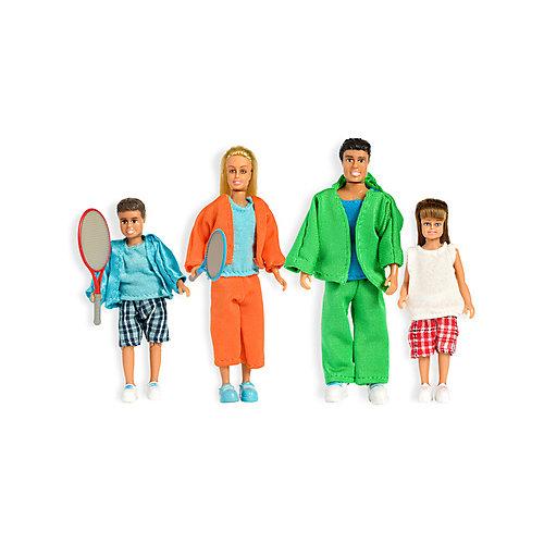 """Набор кукол для домика Lundby """"Стокгольм"""" Cпортивная семья, 1:18 от Lundby"""