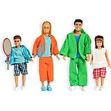 """Набор кукол для домика Lundby """"Стокгольм"""" Cпортивная семья, 1:18"""