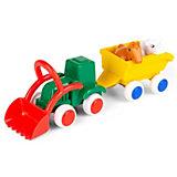 Игровой набор Viking Toys Сафари. Трактор с животными в прицепе