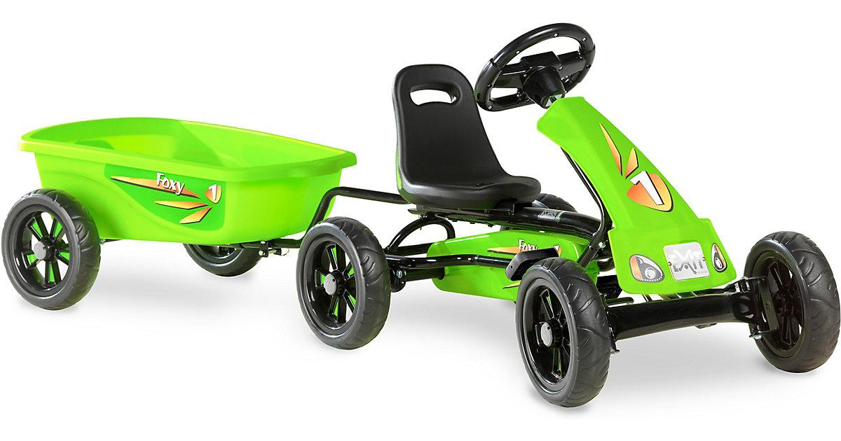 EXIT Foxy Grün Gokart mit Anhänger, grün
