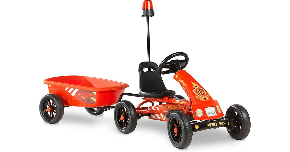 EXIT Foxy Fire Gokart mit Anhänger, rot