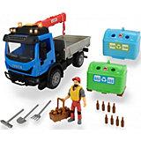 Игровой набор перевозчика стеклотары Dickie Toys Playlife, 7 аксессуаров