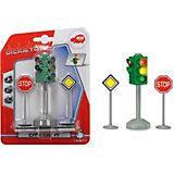 """Игровой набор Dickie Toys """"Светофор и знаки дорожного движения"""", 12 см"""