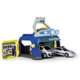 """Игровой набор Dickie Toys """"Полицеская станция и 2 машинки"""", свет и звук"""