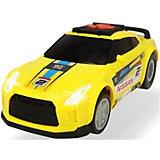 """Машинка Dickie Toys """"Рейсинговый автомобиль Nissan GTR"""", 25,5 см, свет и звук"""