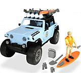 Игровой набор серфера Dickie Toys Jeepster Commando PlayLife, 22 см
