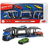 """Игровой набор Dickie Toys """"Автовоз и 3 машинки"""", 28 см"""