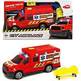Машинка скорой помощи Dickie Toys, 18 см, свет и звук