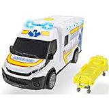 Машинка скорой помощи Dickie Toys Iveco Daily, 18 см, свет и звук