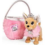 """Плюшевая собачка Simba Chi Chi Love """"Принцесса с пушистой сумкой"""", 20 см"""