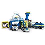 """Игровой набор Dickie Toys """"Полицейская станция и 3 машинки"""", свет и звук"""