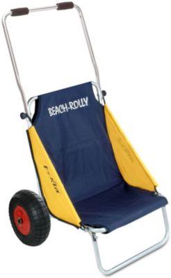 Eckla-Beach-Rolly blau//gelb mit Sonnendach und pannensicherer Bereifung