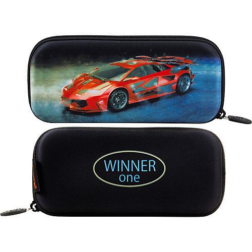 Пенал жесткий Winner One P-213 - черный джинсовый от WINNER