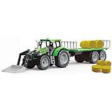 Трактор QunXing Toys с тюками сена