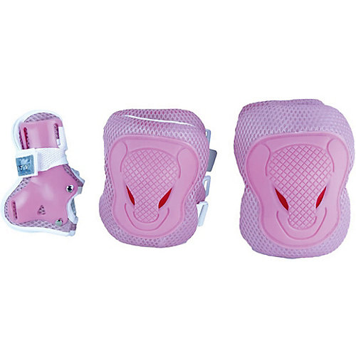 Комплект защиты MaxCity Melody, размер 27-30 - розовый от MaxCity