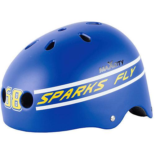 Защитный шлем MaxCity Roller Stike, размер 56-58 - синий от MaxCity