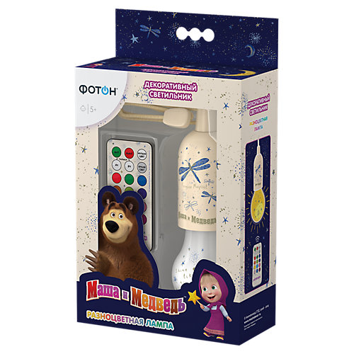 """Светильник Фотон """"Маша и Медведь. Разноцветная лампа"""", с пультом от Фотон"""