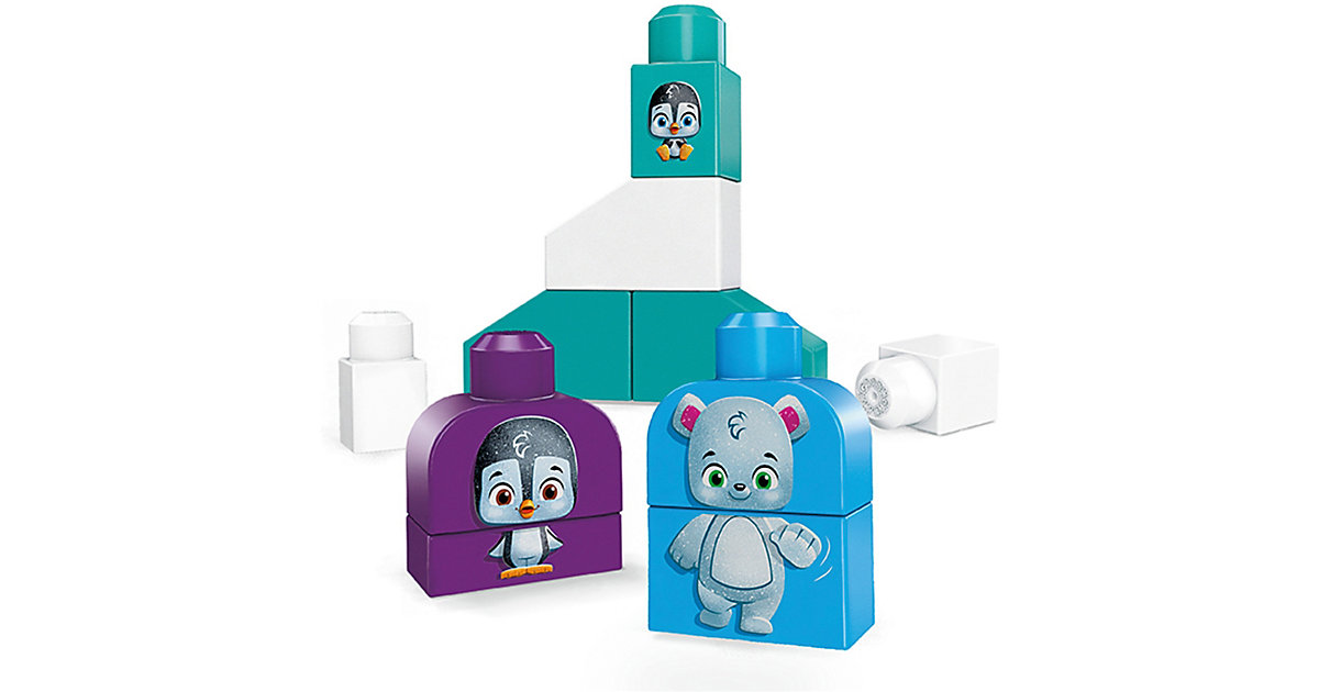 Mega Bloks Polar Freunde (10 Teile), Nachhaltiges Spielzeug, Bauset, Bausteine