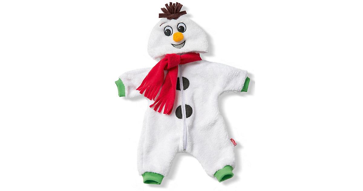 Puppen-Anzug Schneemann 35 - 46 cm mehrfarbig