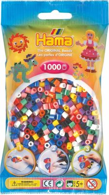 B/ügelperlen im Beutel Hama 207-64 perlmutt 1000 St/ück ca
