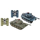 Радиоуправляемый танковый бой HuanQi Tiger vs T34 , 1:32