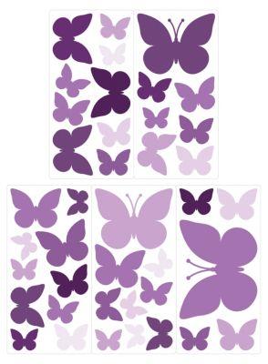 Wandtattoo Schmetterlinge mit Muster für Jungen 20 Stück Set