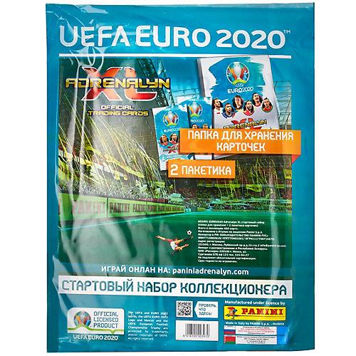 Папка с карточками Panini EURO 2020, 2 пакетика от Panini