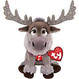 Мягкая игрушка TY Северный олень Свэн, 15 см