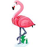 "3D пазл-раскраска ""Цветной"" Фламинго"