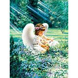"""Алмазная мозаика """"Цветной"""" Ангел с кроликом"""