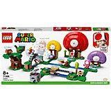 Конструктор LEGO Super Mario Погоня за сокровищами Тоада. Дополнительный набор 71368, 464 элемента