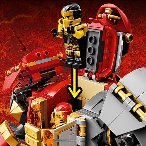 Конструктор LEGO NINJAGO Каменный робот огня 71720, 968 элементов от LEGO