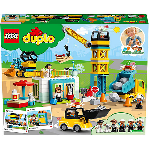 Конструктор LEGO DUPLO Town 10933: Башенный кран на стройке от LEGO