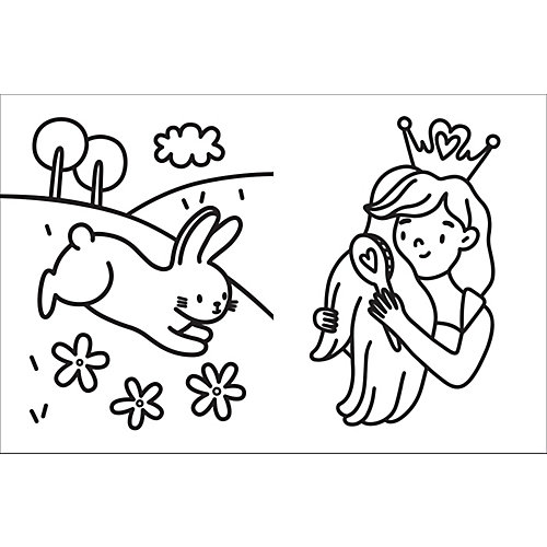 Большая раскраска Принцессы от Росмэн